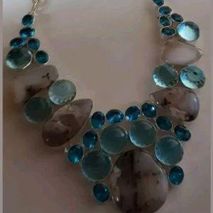 925 Sterling Silver Designer Collar Necklace